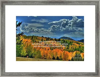 God's Handiwork Framed Print