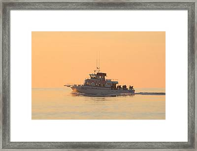 Framed Print featuring the photograph Going Fishing On The Angler by Robert Banach