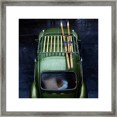 Going Skiing Framed Print
