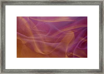 Gold And Lavendar Flowing Light Framed Print by Jcarroll-images