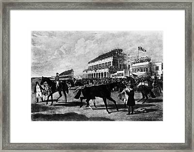 Gold Cup Day Framed Print by Rischgitz