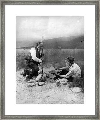 Gold Prospectors Framed Print by General Photographic Agency