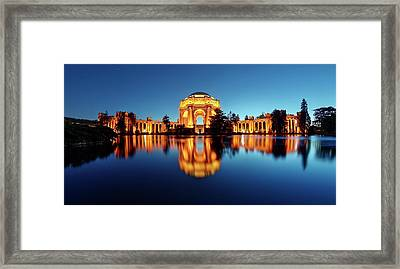 Framed Print featuring the photograph Gold Surrounded By Deep Blue by Quality HDR Photography