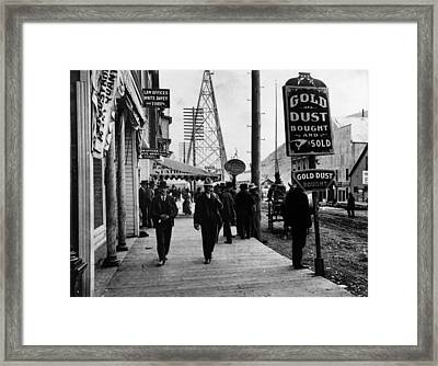 Gold Town Framed Print by Henry Guttmann Collection
