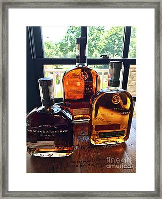Golden Bourbon Framed Print