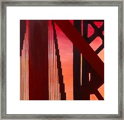Golden Gate Art Deco Masterpiece Framed Print