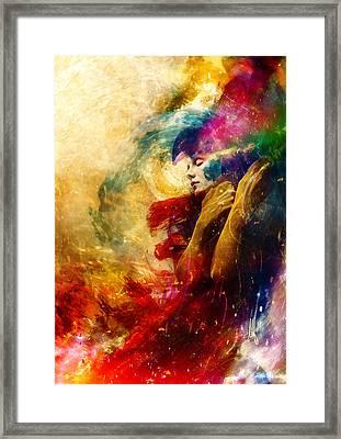 Golden Gloom Framed Print
