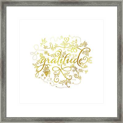 Golden Gratitude Framed Print
