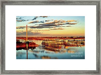 Golden Hour Bridge Framed Print