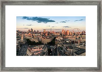 Framed Print featuring the photograph Golden Hour London by Stewart Marsden