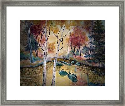 Golden Illumination Framed Print