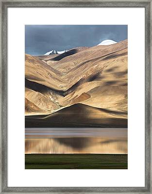 Golden Light Tso Moriri, Karzok, 2006 Framed Print