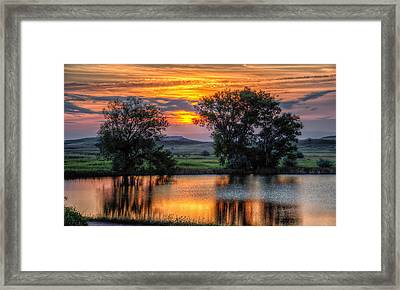 Golden Pond At 36x60 Framed Print