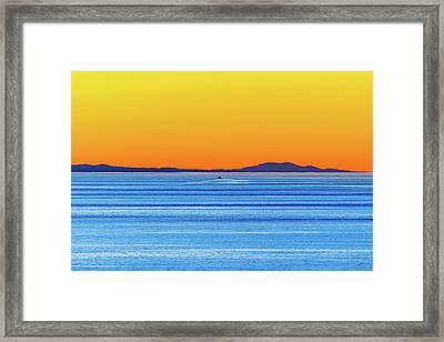 Golden Sunset Series I I Framed Print