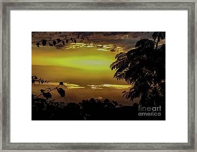 Golden Sunset On Strawberry Hill Framed Print