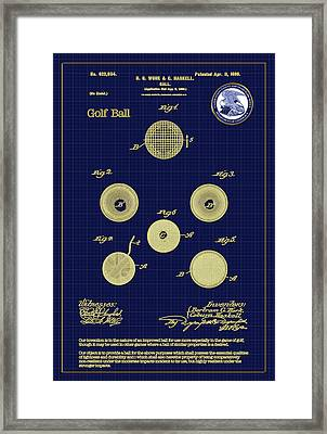 Golf Ball Patent Drawing 1899 Framed Print