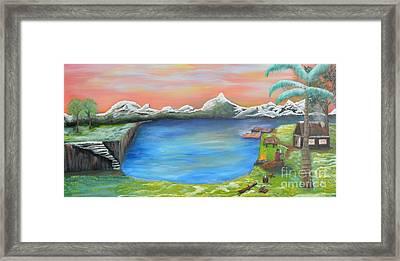 Gone Fishing Framed Print by Sabine ShintaraRose