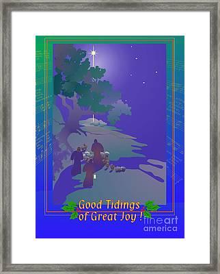 Good Tidings Framed Print