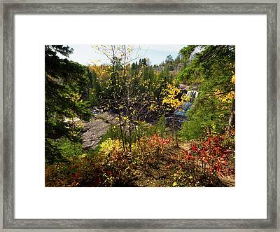 Framed Print featuring the photograph Gooseberry Falls From Above by Whitney Leigh Carlson