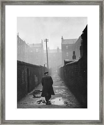 Gorbals Backstreet Framed Print by Bert Hardy