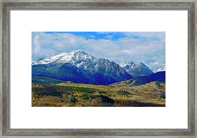Framed Print featuring the photograph Gore Mountain Range by Dan Miller