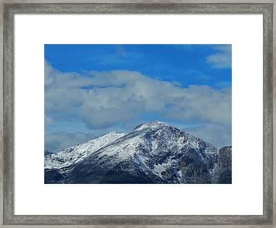 Framed Print featuring the photograph Gore Range Mountains by Lukas Miller