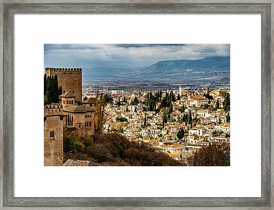 Granada And La Alhambra Framed Print