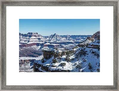 Grand Canyon Snow Framed Print