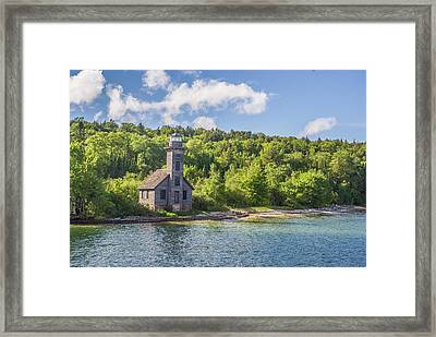 Grand Island East Channel Lighthouse Framed Print