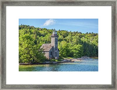 Grand Island East Channel Lighthouse, No. 2 Framed Print