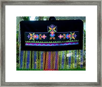 Framed Print featuring the tapestry - textile Grand Mothers Garden by Chholing Taha