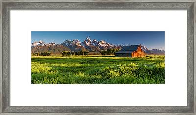 Grand Teton Np - Escaping The Crowd Framed Print