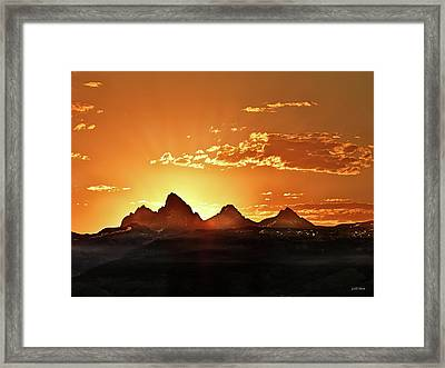 Grand Teton Sunrise Framed Print