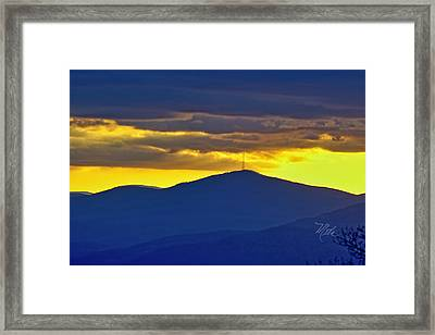 Grandmother Mountain Sunset Framed Print