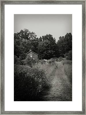 Framed Print featuring the photograph Grandpa's Barn by Michelle Wermuth