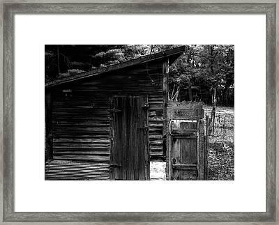 Grandpa's Shed Framed Print