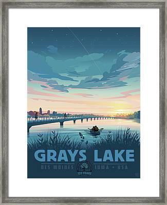 Grays Lake Framed Print