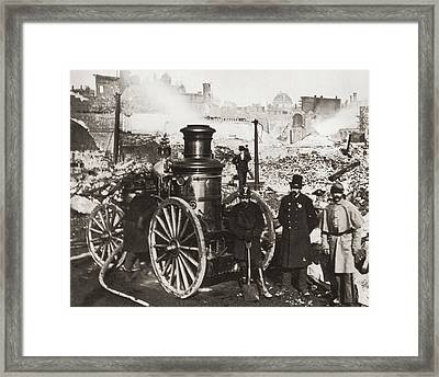 Great Boston Fire Framed Print by Fpg