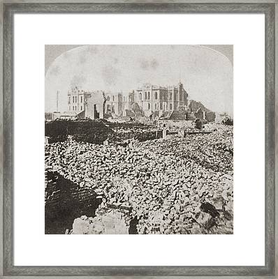Great Chicago Fire Framed Print by Otto Herschan Collection