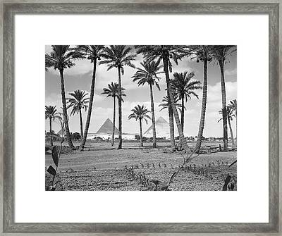 Great Pyramids Framed Print by H. Armstrong Roberts
