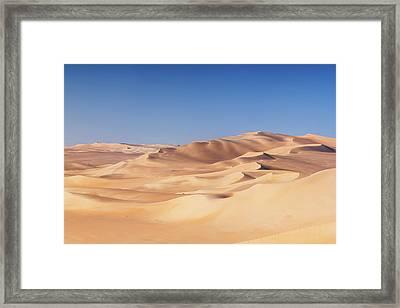 Great Sand Sea, Sahara Desert, Africa Framed Print by Hadynyah