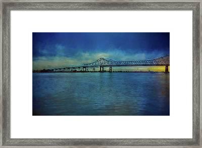 Greater New Orleans Bridge Framed Print