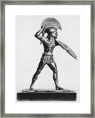 Greek Hoplite Framed Print by Hulton Archive