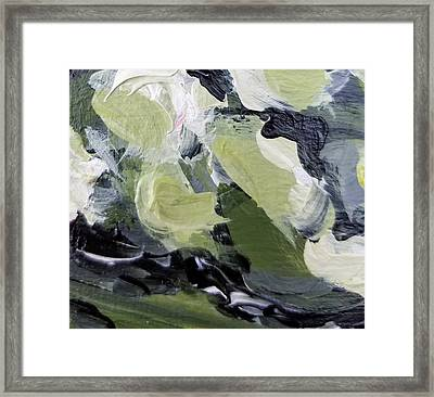 Framed Print featuring the painting Green #1 by Maria Langgle