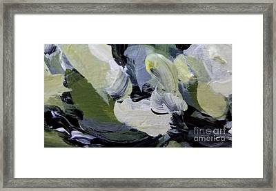 Framed Print featuring the painting Green #2 by Maria Langgle