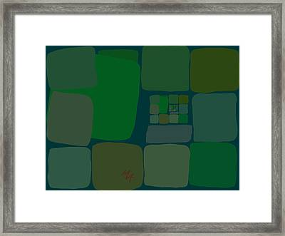 Framed Print featuring the digital art Green by Attila Meszlenyi