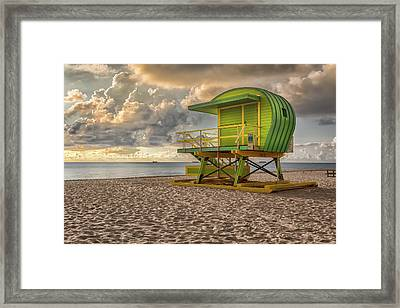 Green Lifeguard Stand Framed Print
