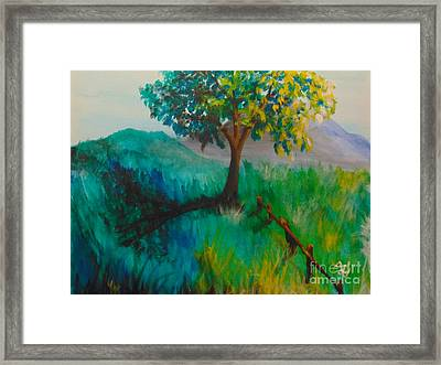 Framed Print featuring the painting Green Pastures by Saundra Johnson