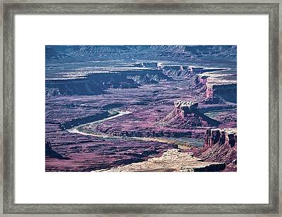 Framed Print featuring the photograph Green River Moonscape by Andy Crawford