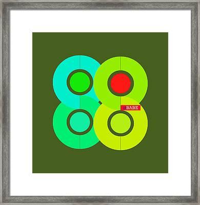 Green Style Framed Print